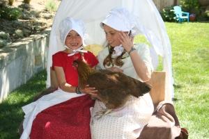 Prairie Girls with Chicken